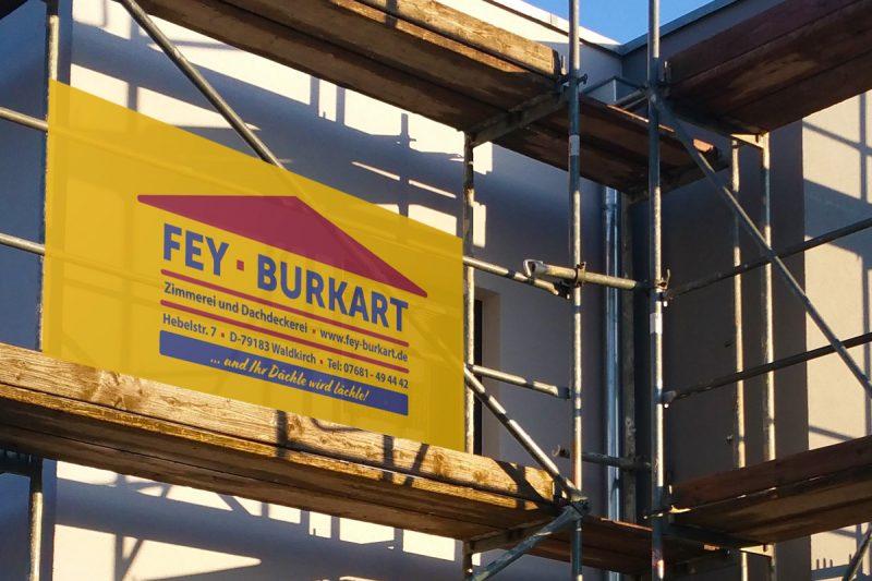 WerbeagenturDN-Medien- Firmenschilder, Fey & Burkart GmbH - Dachdeckerei & Zimmerei, Waldkirch