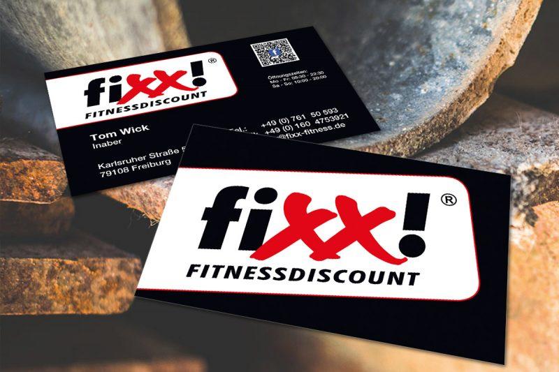 WerbeagenturDN-Medien - VisitenkartenGestaltung & Druck,Fixx Fitness