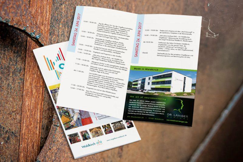 Werbeagentur DN-Medien -broschüre orgelfest waldkirch