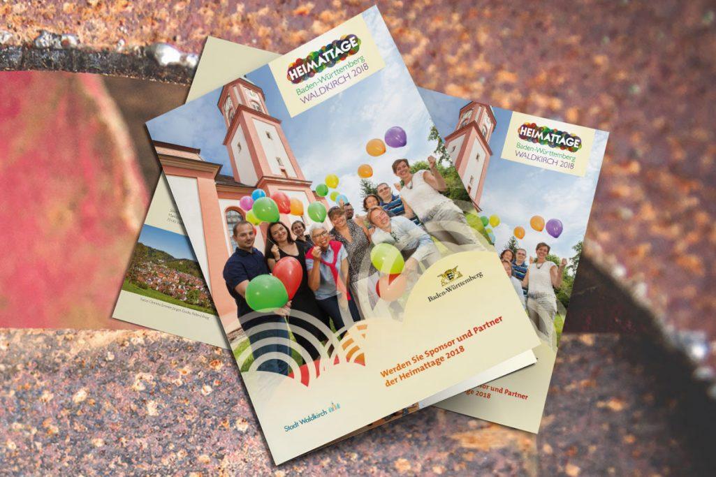 WerbeagenturDN-Medien- Broschüre, Gestaltung & Druck, Heimattage 2018, Waldkirch