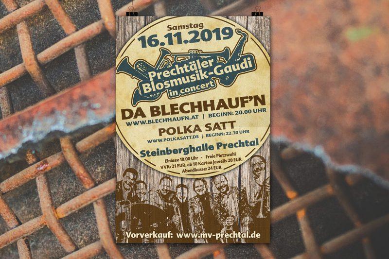 WerbeagenturDN-Medien - Flyer Werbetechnik Gestaltung & Druck Musikverein-Prechtal