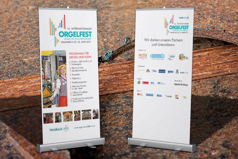 Werbeagentur DN-Medien -rollup orgelfest waldkirch