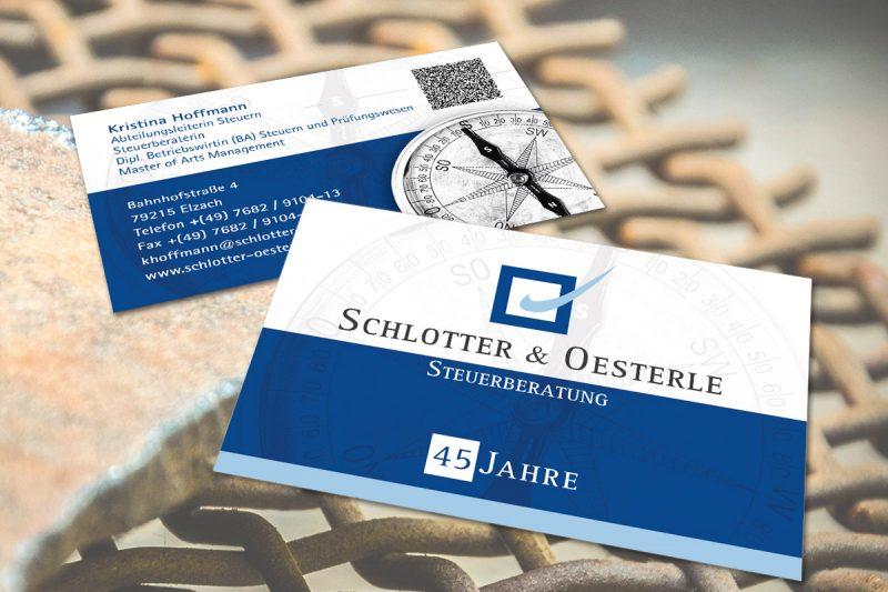 WerbeagenturDN-Medien - Visitenkarten Schlotter / Elzach